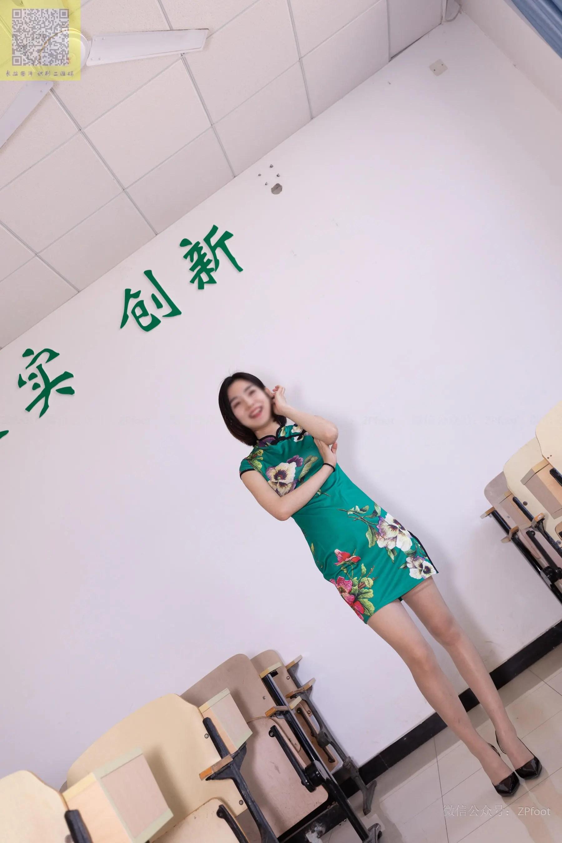 图片[7] - [山茶摄影LSS] NO.089 小阳阳的旗袍筒袜 写真套图[99P] - 唯独你没懂