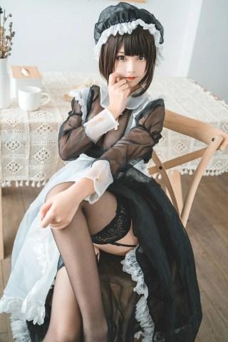 [美女Coser] 蜜汁猫裘 《透明女仆》 写真集[30P] | Page 1/3