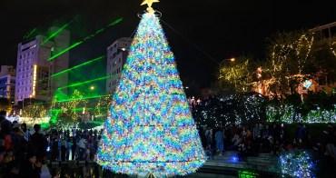 台中柳川藍帶水岸︳「水中聖誕樹」結合台中花博意象,繽紛閃亮柳川和豐原葫蘆墩圳