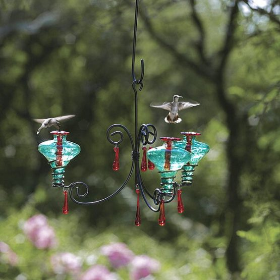 Chandelier Glass Hummingbird Feeder