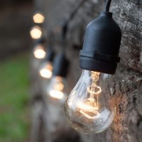 Commercial Patio String Lights, Clear A15 Bulbs - Yard Envy