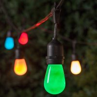 Commercial Patio String Lights, Multicolor S14 Opaque ...