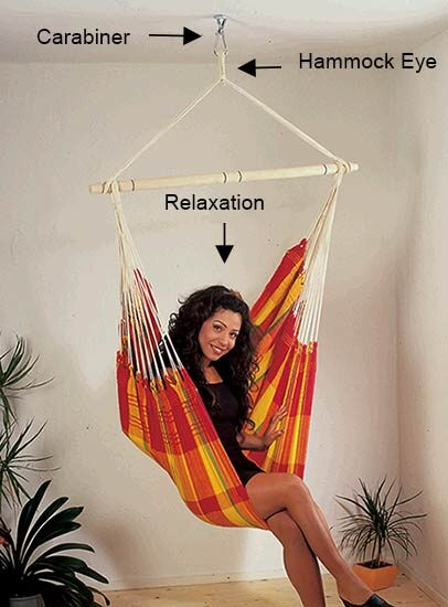 tree hanging hammock chair modern grey leather dining how to hang a yard envy carabiner clip diagram