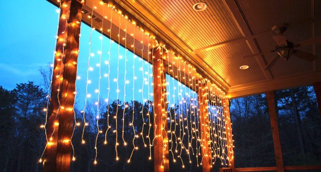 curtain lights deck lighting