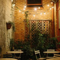 Mexican Dining Room Table And Chairs Chair Cover Rentals In Birmingham Al Create A Backyard Cafe With Bistro Lights! - Yard Envy