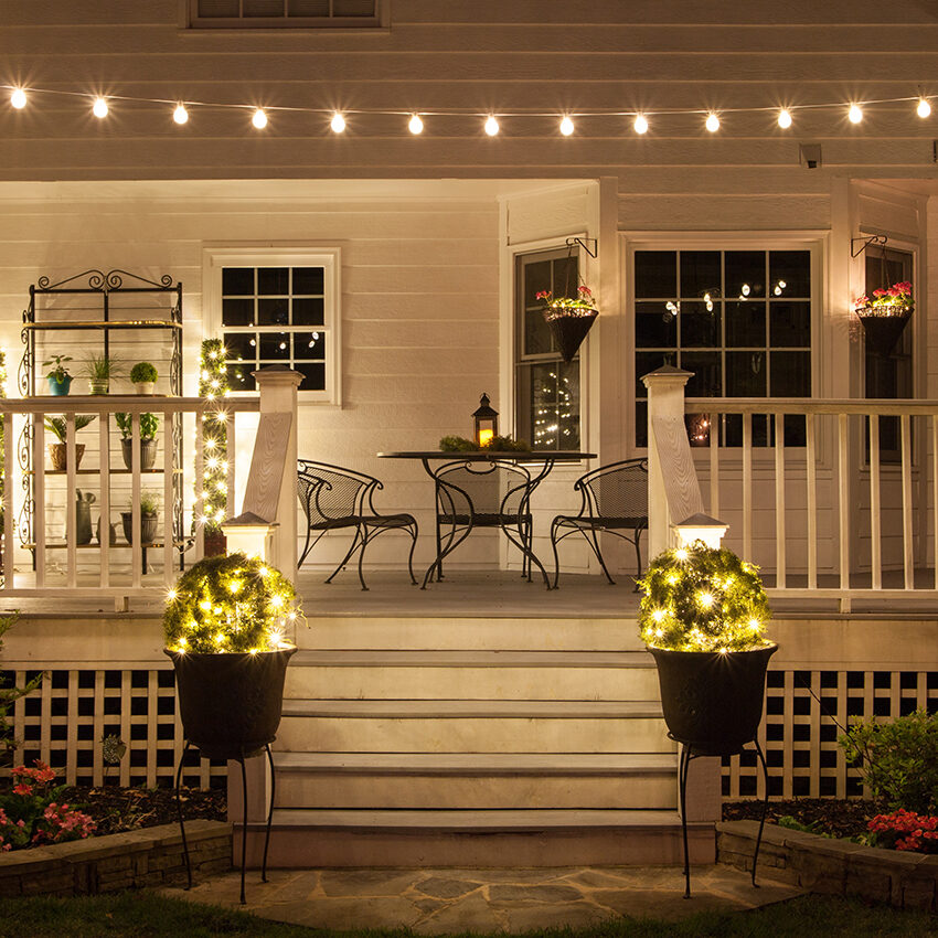 outdoor french bistro chairs indoor hanging australia create a backyard cafe with lights! - yard envy