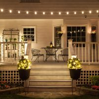 Create a Backyard Cafe with Bistro Lights! - Yard Envy