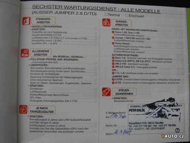 Prodám Citroën Xsara Picasso 2, 0 HDi prodej Citroën Xsara
