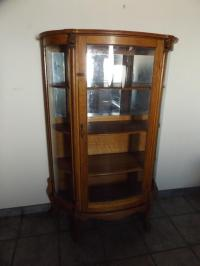 Antique Oak Curio Cabinet