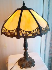 Slag Glass Lamp - For Sale Classifieds