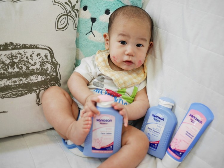 [母嬰] 超好用的水解乳蛋白寶寶洗沐用品-德國珊諾Sanosan(贈)