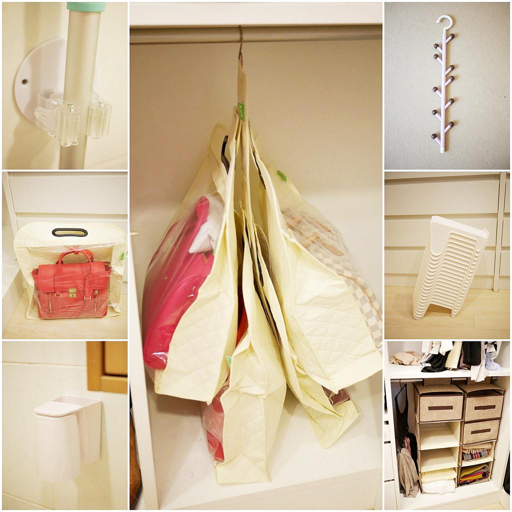 [收納] 淘寶衣櫃收納好物分享(包包、鞋子、領帶、拖把、圍巾)