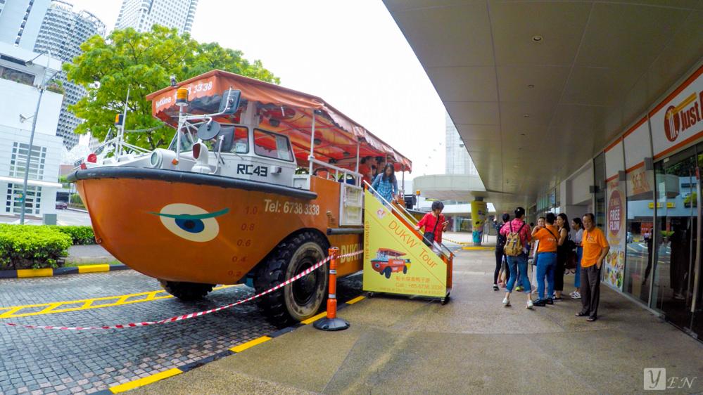 【新加坡旅遊】新加坡鴨子船,新加坡景點水陸兩棲探索/新加坡特殊玩法