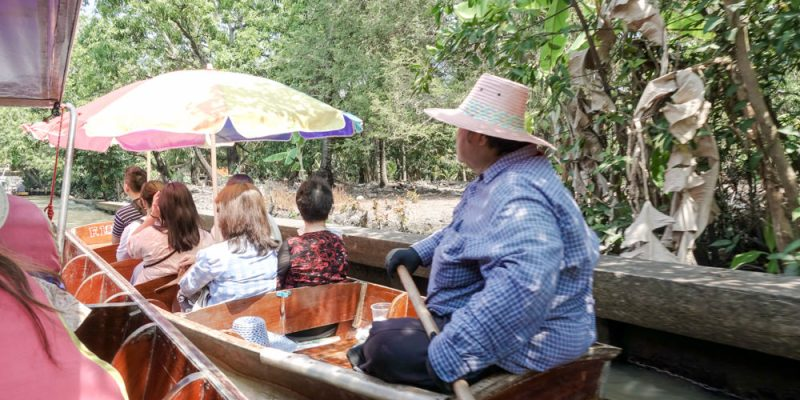 【曼谷旅遊】曼谷熱門景點一日遊:丹能莎朵水上市場、美功鐵道市集、樹中廟、安帕瓦水上市場 曼谷自由行推薦