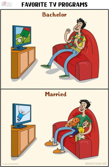 11張男人「婚前婚後」人生大改變的爆笑插畫!#7婚前也很難達成啊!