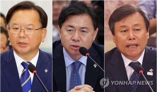 (From left) Kim Boo-kyum, Kim Young-choon and Do Jong-hwan. (Yonhap file photos)