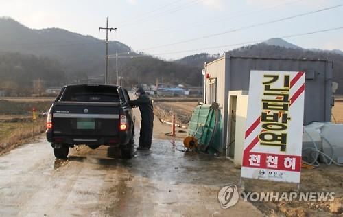 구제역 발생지 차량 통제 [연합뉴스 자료사진]