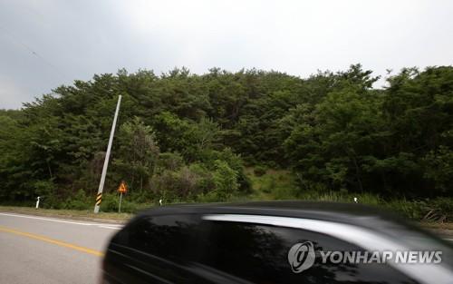 북한 무인기가 발견된 강원도 인제 야산