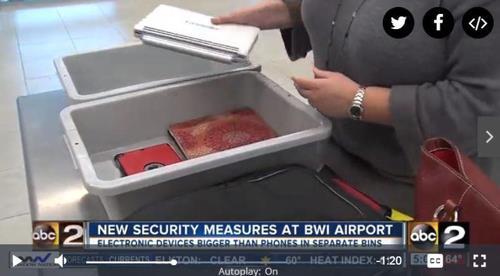 미 교통안전청(TSA) 공항 보안검색 강화