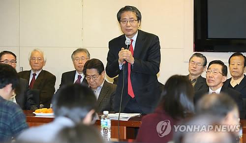 기자회견하는 사랑의교회 '개혁성향 장로모임'