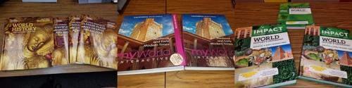 캘리포니아주 채택예정인 세계사 교과서들
