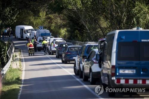 스페인 테러 주범 아부야쿱 사살 현장