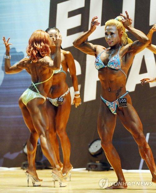 Contest of bodybuilders