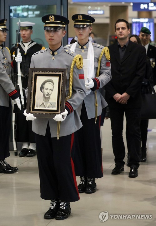 Remains of French Korean War vet come to S. Korea