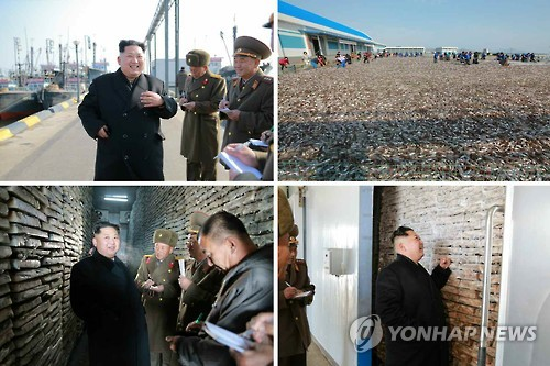 N.K. leader visits army fishery stations