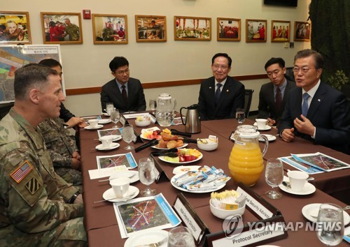 Moon with Eighth U.S. Army commander