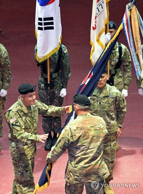 Change of command at U.S. 8th Army