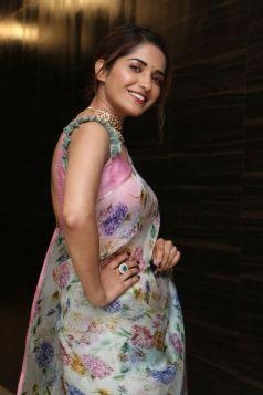 Ruhani Sharma Hot In Saree4