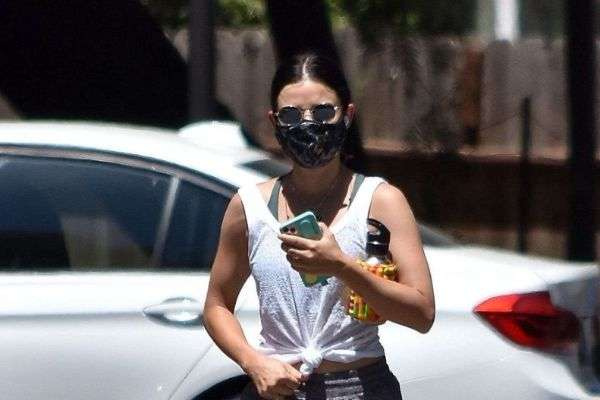 Lucy Hale seen going on a solo hike in Studio City California