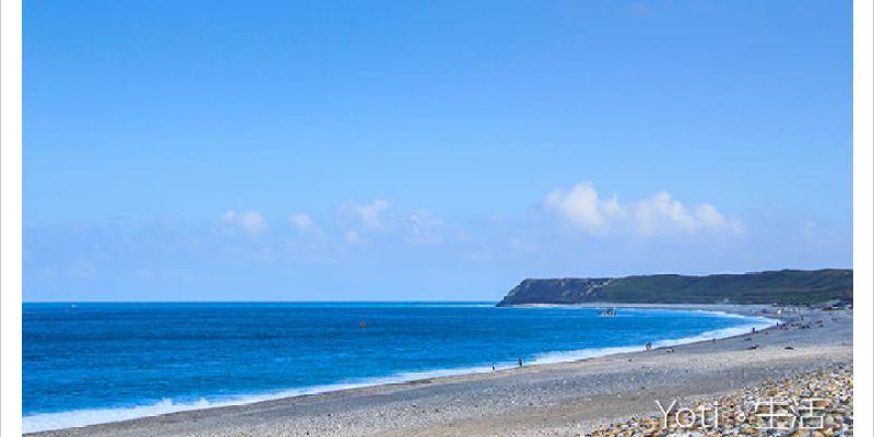 [花蓮新城] 七星潭風景區 | 相鄰太平洋的月牙灣, 藍天白雲與蔚藍海景的協奏曲