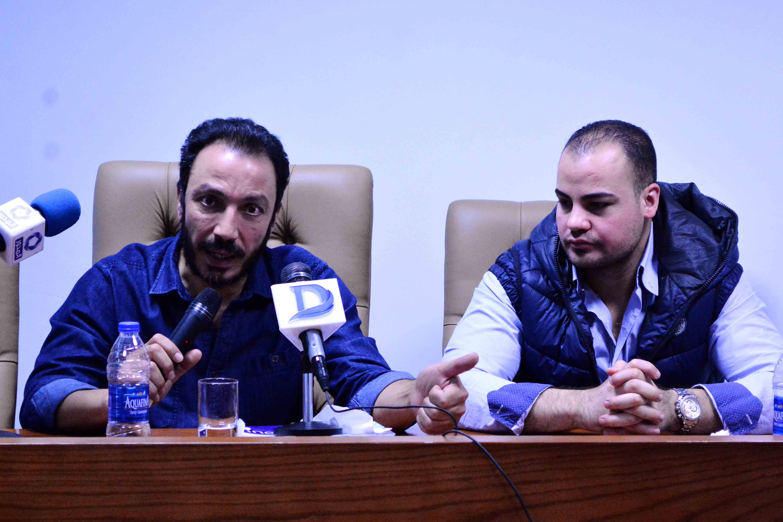 طارق لطفي والزميل عمرو صحصاح