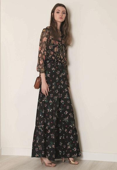 فستان ماكسى أنيق ذو طابع خريفى