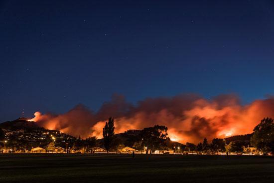حريق هائل فى نيوزيلندا