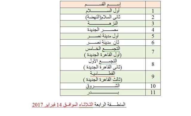 المنطقة الرابعة محافظة القاهرة