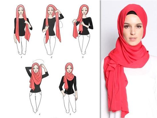 لفة حجاب بسيطة وأنيقة