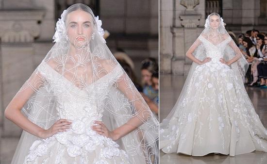 فستان زفاف للمصم اللبنانى العالمى جورج حبيقة