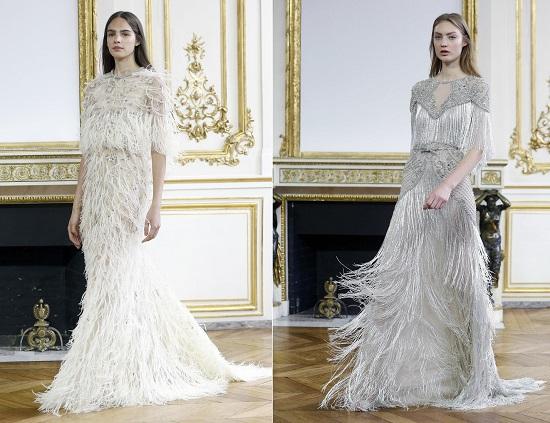 فستانا زفاف من مجموعة مونيك لولييه