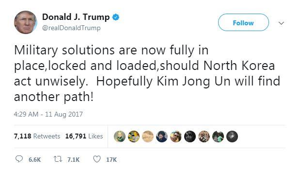 ترامب يهدد كوريا الشمالية