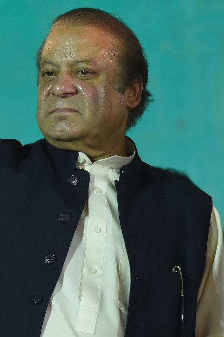 رئيس الوزراء الباكستانى السابق نواز شريف عقب عودته