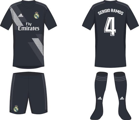 القميص الثانى لنادى ريال مدريد فى موسم 2019