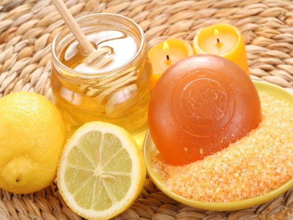 1 عسل وليمون وسكر