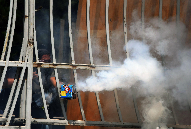 جانب من احتجاجات عنيفة فى هندوراس