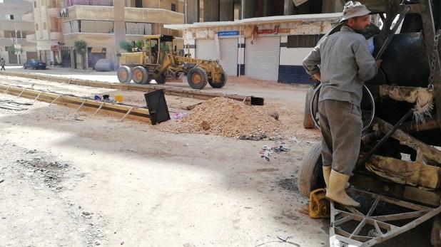 اعمال تطوير شوارع دمنهور1