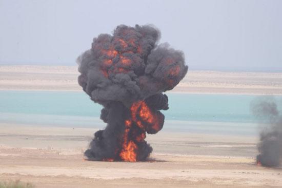 تدريب بالذخيرة الحية ضمن فعاليات تمرين درع الخليج المشترك 1