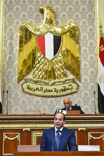 خطاب الرئيس السيسى أمام البرلمان (25)