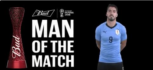 سواريز أفضل لاعب فى مباراة أوروجواى وروسيا
